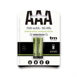 BATERIA - PILA RECARGABLE TM R03 AAA - NI-MH - 1,2V 900mAh - BLISTER 2 UNIDADES