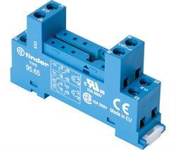 BASE PARA RELES Z 2 CTOS 2+6 PINES PASO 5mm - CARRIL DIN - CONEXION TORNILLO