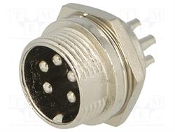 CONECTOR MACHO DE MICROFONO 5 PIN 16mm - PANEL