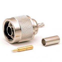 CONECTOR N MACHO - PARA CRIMPAR - PARA CABLE RG58 - METAL