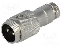 CONECTOR MACHO DE MICROFONO 2 PIN 16mm - AEREO