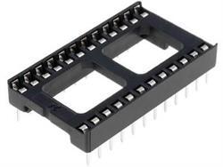 ZOCALO CIRCUITO INTEGRADO 24 PINES - RASTER 2,54mm - RASTER FILA 15.24mm