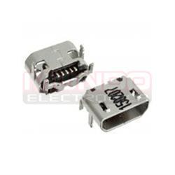 CONECTOR MICRO USB - 5 PINES - ANCLADO 4 PATILLAS A 6.8mm PARA SONY XPERIA