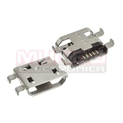 CONECTOR MICRO USB - 5 PINES - ANCLADO 4 PATILLAS A 10.7mm
