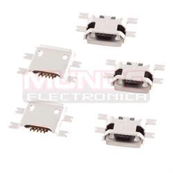 CONECTOR MICRO USB - 5 PINES - SMD 4 PATILLAS A 10.9mm TIPO 2