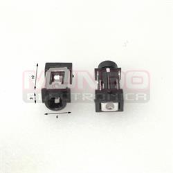 CONECTOR JACK DE ALIMENTACION - ANCLADO 3 PIN - 5x10x3mm TIPO 1