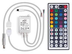 CONTROLADOR RGB PARA TIRAS LED - 12VDC - CON MANDO DE 44 BOTONES