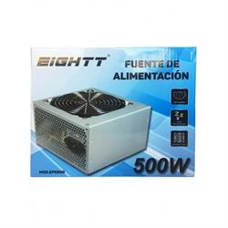FUENTE DE ALIMENTACION EIGHTT 500W - x4 SATA x2 IDE - VENTILADOR 120mm - 14dB