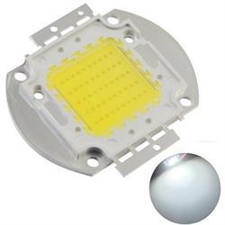 DIODO LED POTENCIA - 50W - 30 a 34V - 1,7AMP - 56x40x4mm - BLANCO PURO 6000K a 6500K - ANG 120º