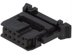 CONECTOR IDC 8 PIN HEMBRA - RASTER CONTACTOS 2,54mm - RASTER CINTA 1,27mm