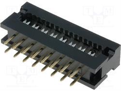 CONECTOR IDC 16 PIN MACHO - RASTER CONTACTOS 2,54mm - RASTER CINTA 1,27mm - AEREO