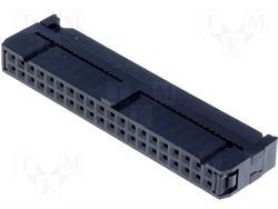 CONECTOR IDC 40 PIN - HEMBRA - RASTER CONTACTOS 2,54mm - RASTER CINTA 1,27mm