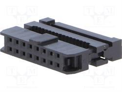 CONECTOR IDC 16 PIN HEMBRA - RASTER CONTACTOS 2mm - RASTER CINTA 1mm