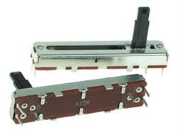 POTENCIOMETRO DESLIZANTE STEREO 100K - 45x9x5,5mm - Deslizamiento 36mm