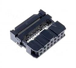 CONECTOR IDC 14 PIN HEMBRA - RASTER CONTACTOS 2,54mm - RASTER CINTA 1,27mm