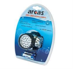 LINTERNA DE CABEZA ARCAS - 28 LEDS