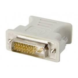 ADAPTADOR DVI-D 24+1 MACHO - VGA HEMBRA 15 PIN - BLANCO