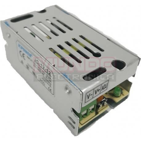 FUENTE DE ALIMENTACION ME ENTRADA 90-265VAC - 12VDC / 1A - 12W - 70X40X30mm - LED