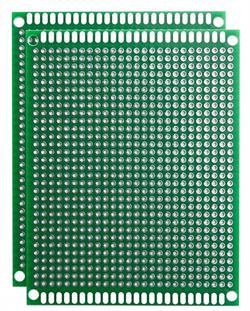 PLACA DE CIRCUITO IMPRESO PCB - DOBLE CARA - PERFORADA - FR4 - 70x90mm
