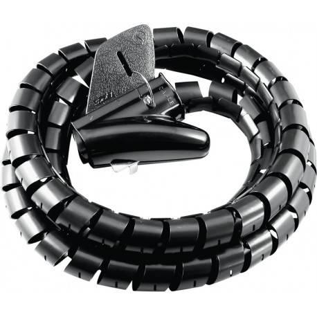 ORGANIZADOR CABLES JOLLYLINE 1,5m / 28mm NEGRO