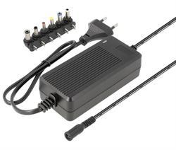 ALIMENTADOR ELECTRONICO UNIVESAL REGULABLE - MANUAL - DE 9..24VCC - 36W - 2A - 6 CONECTORES