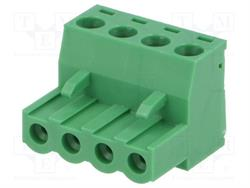 BLOQUE DE BORNAS DESMONTABLE - ENCHUFE HEMBRA - 5,08mm / 2,5mm2 - 4 PIN