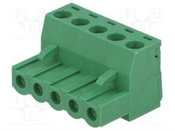 BLOQUE DE BORNAS DESMONTABLE - ENCHUFE HEMBRA - 5,08mm / 2,5mm2 - 5 PIN