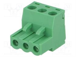 BLOQUE DE BORNAS DESMONTABLE - ENCHUFE HEMBRA - 5,08mm / 2,5mm2 - 3 PIN