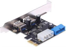 TARJETA CONTROLADORA USB 3.0 PCI-E - 2 PUERTOS + CONECTOR USB 3.0 INTERNO - ALIMENTACION IDE