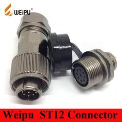 PAREJA DE CONECTORES WEIPU 2 PIN - PANEL AEREO - HASTA 13A - IP68 - PARA SOLDAR - METALICOS