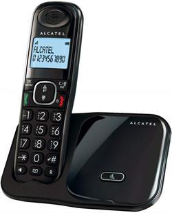 TELEFONO INALAMBRICO DECT ALCATEL - TECLAS GRANDES - TRANSF LLAMADAS - NEGRO