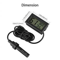TERMOMETRO DIGITAL Y DE HUMEDAD - SONDA 1,5 METROS - DE -50°C a 70°C - 4.8x2.86x1.52cm