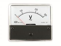 VOLTIMETRO / MEDIDOR DE PANEL 0-300V - AC - CLASE PRECISION 2,5 - 70x60mm