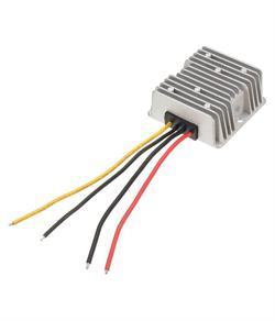 CONVERTIDOR DE 24VDC A 12VDC - 20A - 240W - IP67 - DIMENSIONES 74x74x33mm - CABLES 120mm