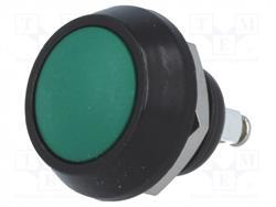 PULSADOR DE PRESION METALICO - 2A 36VDC - ORIFICIO MONTAJE 12mm - IP65 - TERMINALES A TORNILLO