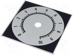 ESCALA METALICA [ALUMINIO] - DE 0 A 10 - RECTANGULAR 48x42mm - ORIFICIO INTERIOR 10mm