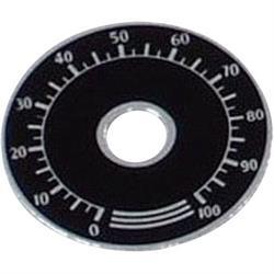 ESCALA METALICA NEGRO - DE 0 A 100 - DIAMETRO EXT 41mm - ORIFICIO INTERIOR 10mm