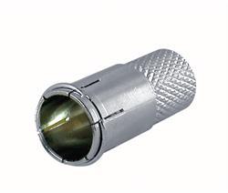 CONECTOR F RAPIDO - METALICO - PARA CABLE 7mm - TORSION