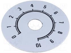 ESCALA METALICA [ALUMINIO] - DE 0 a 10 - DIAMETRO EXT. 80mm - ORIFICIO INTERIOR 10mm