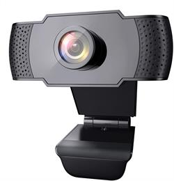 WEBCAM WANSV - FHD 1080P - 30FPS - USB 2.0 - CON MICROFONO - STREAMING - NEGRO