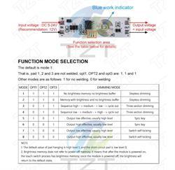 MODULO SENSOR TACTIL CAPACITIVO - 9..24V - 30W - 3A - 3 MODOS - 11x35mm