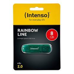MEMORIA FLASH - PENDRIVE INTENSO 8GB - USB 2.0 - VERDE
