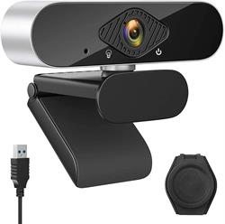 WEBCAM GEEKER CHIP - FHD 1080P - 30FPS - USB 2.0 - CON MICROFONO - STREAMING - NEGRO