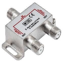 DISTRIBUIDOR / SPLITTER NIMO DE TV 1 ENTRADA - 2 SALIDAS - CONECTORES F