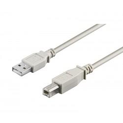 CONEXION NIMO USB MACHO TIPO A - USB MACHO TIPO B BEIGE [2m] - IMPRESORA