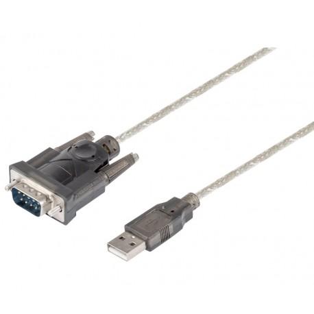 CONVERTIDOR PUERTO SERIE RS232 - SUB-D 9 PIN A USB A 2.0 - 1,5 METROS