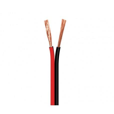 CABLE ALTAVOZ 2X2.5mm - ROJO NEGRO - POLARIZADO - 1 METRO