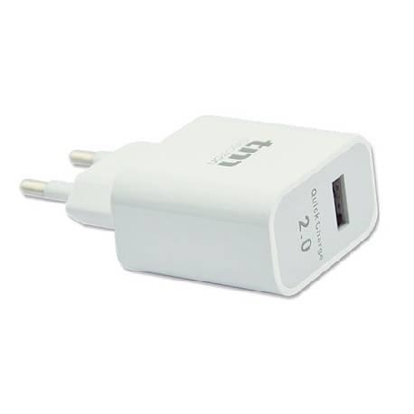 CARGADOR TM ENTRADA AC100-240V a x1 USB 5V / 2,1A - BLANCO