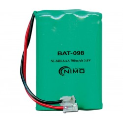 BATERIA Ni-Mh 3.6V - 700mAh [AAAx3] - 30,0x44,0x10,0mm - CONECTOR