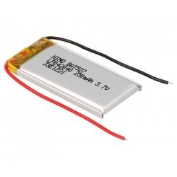 BATERIA Li-Po NIMO 3,7V - 250mAh RECARGABLE - 18,0x42,0x4,0mm - A 2 HILOS